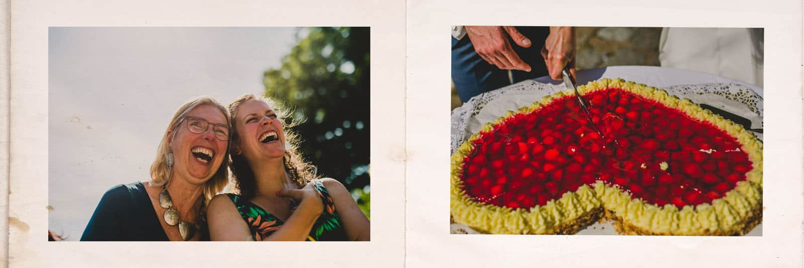 guests and cake in a berlin wedding