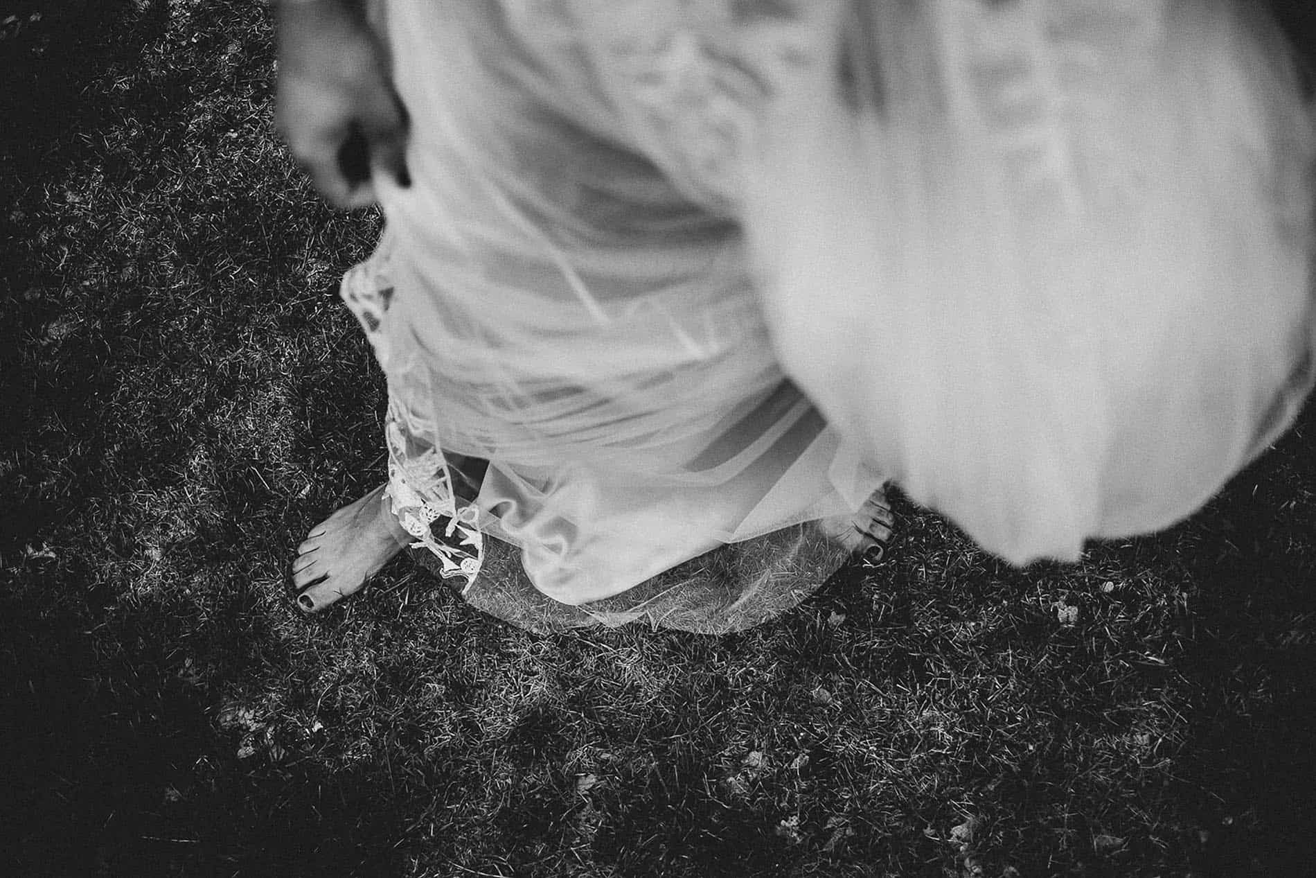 artistic photo of the bride