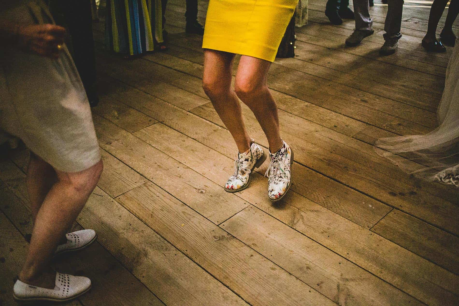 shoes on the dance floor